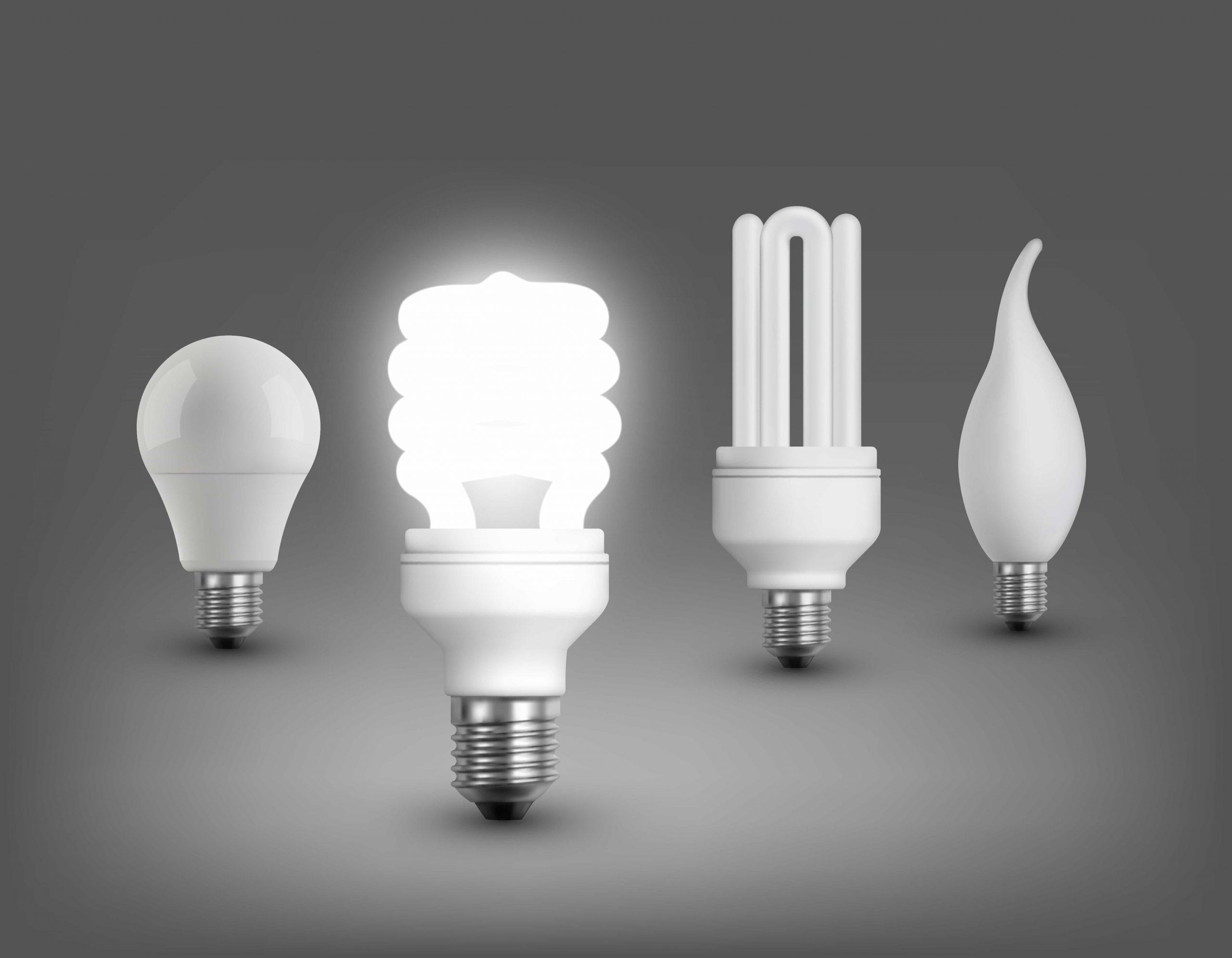 Luces LED modernas encendidas